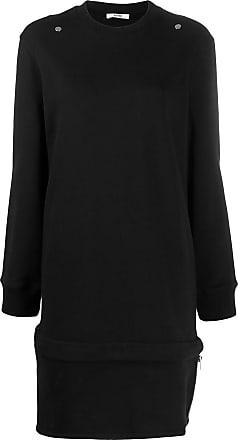 Zilver 2 stud sweatshirt dress - Black