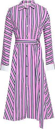 089aded6414 Maje Maje Woman Belted Striped Cotton-poplin Midi Shirt Dress Bubblegum  Size 2