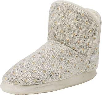 Joules Womens Cabin Hi-Top Slippers, Grey (Marl Spot Marl Spot), 7/8 UK (40-42 EU)