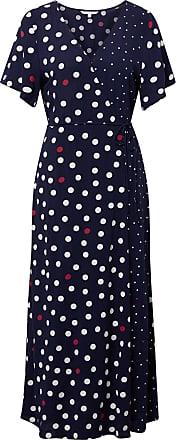 Tom Tailor Gepunktetes Wickelkleid, Damen, blue white big dot, Größe: M