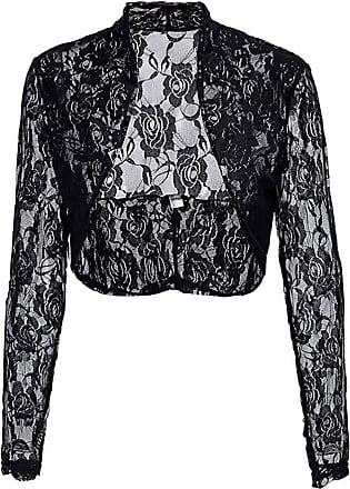 New Womens Ladies Floral Sequin Bolero Shiny Shrug Plus Size 12-26