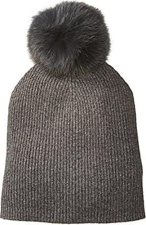 376dd732 Sofiacashmere Womens Cashmere Fur Pom Hat-Slouchy, Castlerock + Gold Lurex /Charcoal,