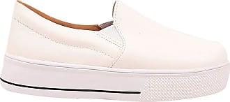 Eleganteria Tênis feminino Iate Sola Alta Branco Sapatênis Eleganteria Tamanho:37;Cor:Branco