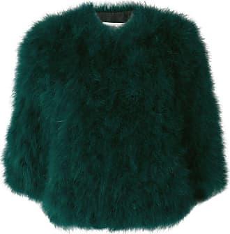 Yves Salomon short collarless jacket - Green