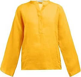 Three Graces London Angelique Top in Saffron Yellow