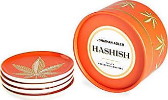 Jonathan Adler 26478 Hashish Coaster Set, Orange