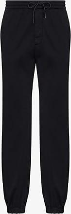 Ermenegildo Zegna Mens Blue Drawstring Straight Leg Trousers