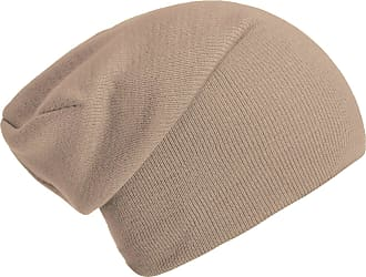 DonDon winter hat slouch beanie warm classical design modern and soft beige