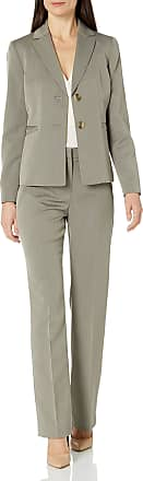 Le Suit Womens Petite Size End 2 Button Pant Suit with Cami