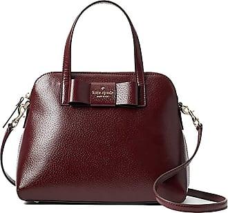 Kate Spade New York Maise Matthews Street Leather Satchel Handbag - New (Cherrywood)