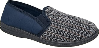 Zedzzz Mens Navy Blue Felt Comfortable Slippers Sizes 7 to 16 (13)