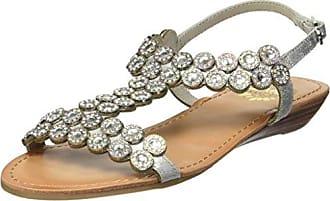 Yellow Box Womens P-Beaming Sandal, Silver, 9 M US