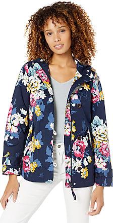 Joules Womens Coast Print Rain Jacket, Blue (Anniversary Floral), (Size:12)