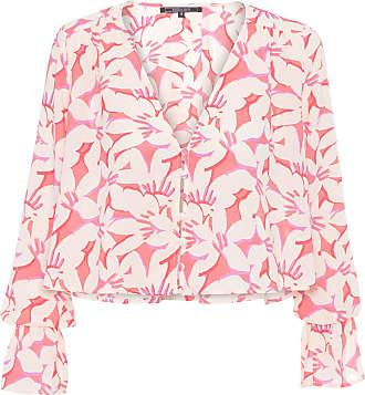 Shoulder Bata Floral Decote V Shoulder - Bege