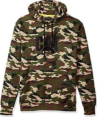 CAT Mens Trademark Hooded Sweatshirt, Woodland Camo, 2X-Large