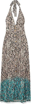 a9e5378284 Heidi Klein Mombasa Snake-print Jersey Halterneck Maxi Dress - Gray