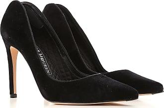 Alexander McQueen Pumps & High Heels for Women On Sale in Outlet, Black, Velvet, 2017, 6.5 8.5 9