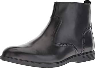 Hush Puppies Mens Shepsky Zip Boot Ankle, Black Leather, 10 M US