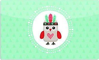 KESS InHouse Daisy BeatriceHipster Owlet Mint Coral Teal Artistic Aluminum Magnet, 2 by 3, Multicolor
