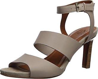 Aquatalia Womens Basha Soft Tumbled Calf Heeled Sandal, Taupe, 11 M M US