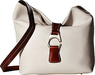 Dooney & Bourke Derby Crossbody Hobo (Ecru/Chestnut Trim) Hobo Handbags
