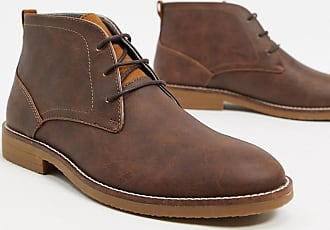 Burton Menswear leather chukka boot in brown