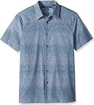 Perry Ellis Mens Short Sleeve Palm Print Shirt