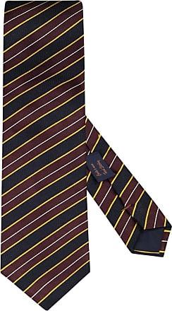 Altea Übergröße : Altea, Krawatte mit Streifen-Muster in Braun für Herren