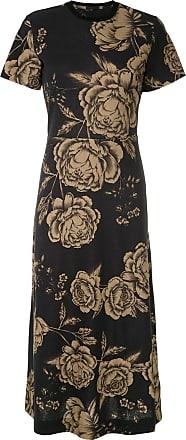 Osklen floral print midi dress - Black