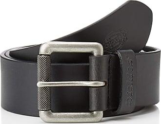 Dickies Mens South Shore Leather Belt, Black (Black BLK), Large (Size:LXL)