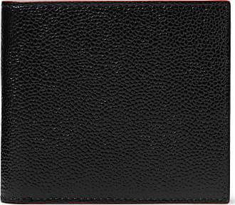 Thom Browne Pebble-grain Leather Billfold Wallet - Black