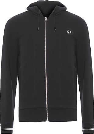 Fred Perry CASACO MASCULINO HOODED - PRETO