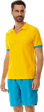 Vilebrequin Men Cotton Pique Polo Shirt Solid - Mango - XXL