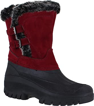 Groundwork Womens Mucker Stable Yard Winter Snow Zip Up Boots Wellies Burgundy UK8
