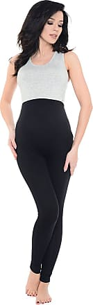 Purpless Maternity Pregnancy Leggings Belly Support Stretchy Long Over Bump Cotton Trousers for Pregnant Women 1025 (10, Black)