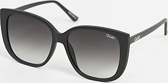 Quay Ever After oversized cat eye sunglasses in black