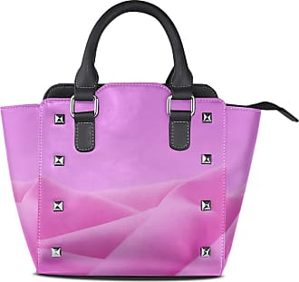 NaiiaN Leather Abstract Pink Simple Golf Light Weight Strap for Women Girls Ladies Student Tote Bag Shoulder Bags Handbags Purse Shopping