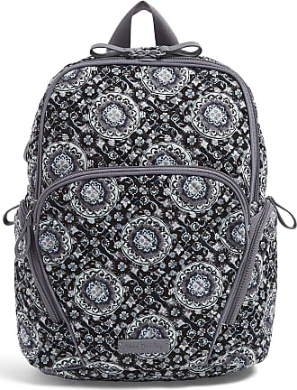 Vera Bradley Womens Signature Cotton Hadley Backpack, Charcoal Medallion, One Size