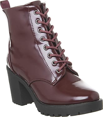 Office Absolutely- Lace Up Cleated Boot Burgundy Box - 6 UK