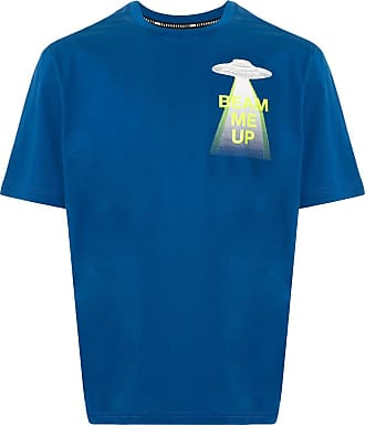 Blackbarrett Camiseta beam me up de algodão - Azul