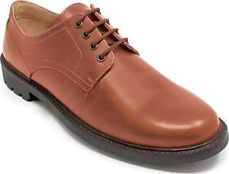 Chums Mens Leather Lace Shoe with Rugged Outsole Tan 10 UK