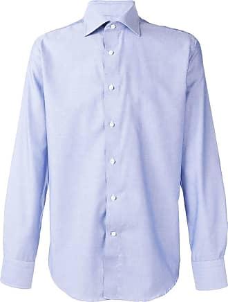 Canali classic plain shirt - Azul