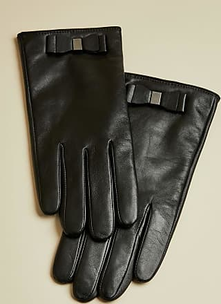 Ted Baker Bow Detail Leather Gloves in Black BBLAKE, Womens Accessories