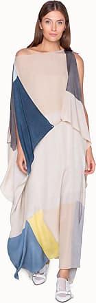 Akris Long Multicolored Caftan Dress