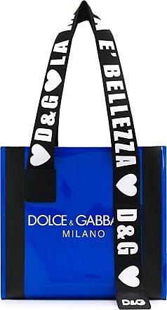 Dolce & Gabbana Bolsa tote com logo - Azul