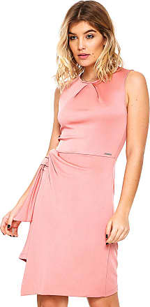921b187b8 Colcci Vestido Colcci Curto Assimétrico Rosa