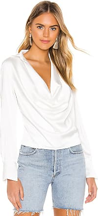Superdown Tabbie Drape Plunge Top in White