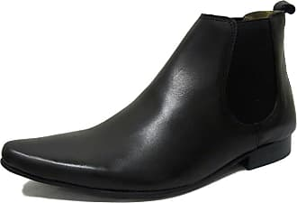 Ikon Original Mens Sly 60s Mod Leather Chelsea Boot Black 11 UK/45 EU