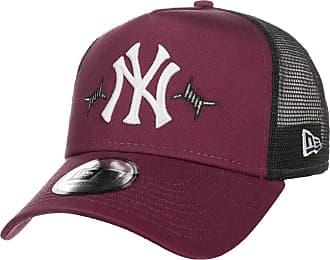 New Era Motif Yankees Trucker CapEra Baseball Cap Curved Brim (One Size - Bordeaux)