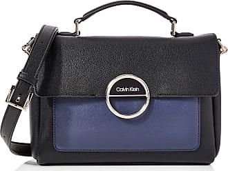 Calvin Klein Disc Top Handle Md, Womens Satchel, Black (Black Mix), 1x1x1 cm (W x H L)
